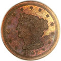 Proof Braided Hair Half Cents, 1847 1/2 C Second Restrike PR66 Brown PCGS. CAC. B-3, High R.5....