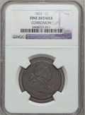 Large Cents: , 1803 1C Small Date, Small Fraction -- Corrosion -- NGC Details.Fine. NGC Census: (23/305). PCGS Population (18/329). Minta...