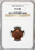 Proof Lincoln Cents: , 1909 1C PR63 Red and Brown NGC. NGC Census: (12/120). PCGSPopulation (29/215). Mintage: 2,618. Numismedia Wsl. Price for p...