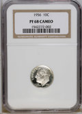 Proof Roosevelt Dimes: , 1956 10C PR68 Cameo NGC. NGC Census: (111/51). PCGS Population(80/10). Numismedia Wsl. Price: $60. (#85231)...