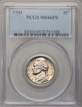 Jefferson Nickels: , 1941 5C MS66 Full Steps PCGS. PCGS Population (225/17). NGC Census:(60/12). (#84010)...