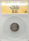 Bust Dimes: , 1828 10C Small Date -- Scratched -- ANACS. XF45 Details. JR-1. NGCCensus: (4/26). PCGS Population (2/48). Mintage: 125,00...