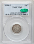 Barber Dimes: , 1894-O 10C XF40 PCGS. CAC. PCGS Population (13/62). NGC Census:(6/46). Mintage: 720,000. Numismedia Wsl. Price for problem...