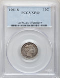 Barber Dimes: , 1901-S 10C XF40 PCGS. PCGS Population (9/74). NGC Census: (2/61).Mintage: 593,022. Numismedia Wsl. Price for problem free ...