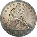 Proof Seated Dollars, 1858 $1 PR65 NGC. CAC....