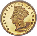 Proof Gold Dollars, 1879 G$1 PR66 Deep Cameo PCGS. CAC....