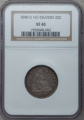 Seated Quarters: , 1840-O 25C No Drapery XF40 NGC. NGC Census: (12/82). PCGSPopulation (13/57). Mintage: 382,200. Numismedia Wsl. Price forp...