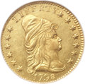 Early Quarter Eagles, 1798 $2 1/2 Close Date, Four Berries MS64 NGC. Breen-6116, BD-1,High R.5....