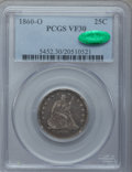 Seated Quarters: , 1860-O 25C VF30 PCGS. CAC. PCGS Population (6/80). NGC Census:(1/65). Mintage: 388,000. Numismedia Wsl. Price for problem ...