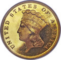 Proof Three Dollar Gold Pieces, 1887 $3 PR67 Deep Cameo PCGS. CAC....