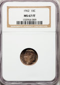 Roosevelt Dimes: , 1962 10C MS67 Full Bands NGC. NGC Census: (64/0). PCGS Population(15/0). Mintage: 72,400,000. (#85124)...