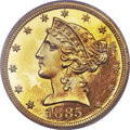 Proof Liberty Half Eagles, 1885 $5 PR65 Deep Cameo PCGS. CAC....