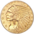 Indian Half Eagles, 1916-S $5 MS66 PCGS. CAC....