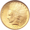 Indian Eagles, 1915 $10 MS66 NGC. CAC....