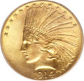 Indian Eagles, 1914-D $10 MS67 PCGS. CAC....