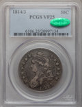 Bust Half Dollars: , 1814/3 50C VF25 PCGS. CAC. PCGS Population (11/126). NGC Census:(8/411). Numismedia Wsl. Price for problem free NGC/PCGS ...