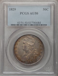 Bust Half Dollars: , 1829 50C Small Letters AU50 PCGS. PCGS Population (132/654). NGCCensus: (60/697). Mintage: 3,712,156. Numismedia Wsl. Pric...