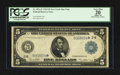 Large Size:Federal Reserve Notes, Fr. 851a* $5 1914 Federal Reserve Note PCGS Apparent Very Fine 20.. ...