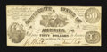 Confederate Notes:1861 Issues, CT14/75A Counterfeit $50 1861.. ...
