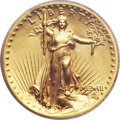 High Relief Double Eagles, 1907 $20 High Relief, Wire Rim AU55 PCGS....