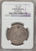 Early Half Dollars: , 1795 50C 2 Leaves -- Plugged -- NGC Details. Good. O-102. NGCCensus: (29/817). PCGS Population (44/1296). Mintage: 299,68...