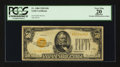 Small Size:Gold Certificates, Fr. 2404 $50 1928 Gold Certificate. PCGS Apparent Very Fine 20.. ...