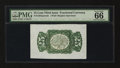 Fractional Currency:Third Issue, Fr. 1294SP Back 25¢ Third Issue Wide Margin Specimen PMG Gem Uncirculated 66 EPQ.. ...