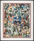 Baseball Collectibles:Photos, World Series Most Valuable Players Multi Signed Print....