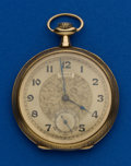 Timepieces:Pocket (post 1900), D. Gruen & Sons 14k & Enamel 12 Size. ...