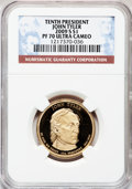Proof Presidential Dollars, 2009-S $1 Tyler PR70 Ultra Cameo NGC. NGC Census: (0). PCGSPopulation (108). Numismedia Wsl. Price for problem free NGC/P...