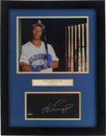 Baseball Collectibles:Photos, Ken Griffey Jr. Signed Upper Deck Authenticated Display....