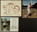 Baseball Collectibles:Photos, Stan Musial, Sandy Koufax and Ted Williams Signed Prints Lot of3....
