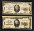 National Bank Notes:Virginia, Lynchburg, Virginia $20 Type 1 Nationals.. ... (Total: 2 notes)