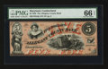 Obsoletes By State:Maryland, Cumberland, MD- Allegany County Bank $5 Jan. 4, 1860. ...