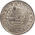 Colonials, 1776 $1 Continental Dollar, CURRENCY, Pewter, EG FECIT MS64 PCGS Secure. Newman 3-D, Hodder 3-B, W-8460, Low R.4. ...