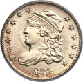 Bust Half Dimes, 1834 H10C 3/Inverted 3 MS67+ PCGS. CAC. V-5, LM-1, R.1. FS-301....
