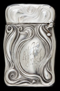 Silver Smalls:Match Safes, AN UNGER SILVER MATCH SAFE . Unger Bros., Newark, New Jersey, circa1900. Marks: UB (interlaced), STERLING 925 FINE...