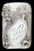 Silver Smalls:Match Safes, AN UNGER SILVER MATCH SAFE . Unger Bros., Newark, New Jersey, circa1900. Marks: STERLING (partially effaced), 925 FIN...