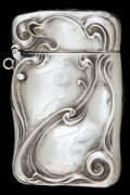 Silver Smalls:Match Safes, AN UNGER SILVER MATCH SAFE . Unger Brothers, Newark, New Jersey,circa 1900. Marks: UB (conjoined), STERLING 925FINE...