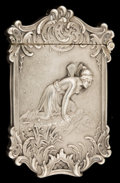 Silver Smalls:Match Safes, AN AMERICAN SILVER MATCH SAFE . Attributed to Wm.. B. Kerr &Co., Newark, New Jersey, circa 1890. Marks: STERLING.2-3/4...