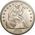 Seated Dollars, 1868 $1 MS64 PCGS. CAC....