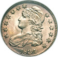 Bust Half Dollars, 1834 50C Large Date, Large Letters MS66 NGC. O-102, R.1....