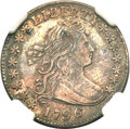 Early Dimes, 1796 10C AU50 NGC. JR-2, R.4....
