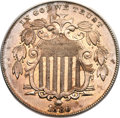 Shield Nickels, 1880 5C MS63 PCGS. CAC....