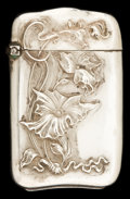 Silver Smalls:Match Safes, AN AMERICAN SILVER MATCH SAFE . Maker unknown, American, circa1900. Marks: STERLING. 2-5/8 inches high (6.7 cm). 0.7 ou...