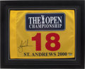 Golf Collectibles:Autographs, Tiger Woods Signed Upper Deck Authenticated 2000 The OpenChampionship Flag. ...