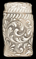 Silver Smalls:Match Safes, A SHIEBLER SILVER MATCH SAFE . George W. Shiebler & Co., NewYork, New York, circa 1890. Marks: (winged S), STERLING,2938...