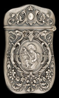 Silver Smalls:Match Safes, A KERR SILVER MATCH SAFE . Wm. B. Kerr & Co., Newark, NewJersey, circa 1890. Marks: (fasces), STERLING, 38. 2-5/8inche...