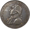 Colonials, 1792 1C Washington Born Virginia Cent, Inscribed Reverse MS62 BrownNGC. Baker-60, W-10730, R.6....