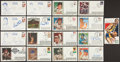 Miscellaneous Collectibles:General, Sports Legends Signed First Day Covers Lot of 17....